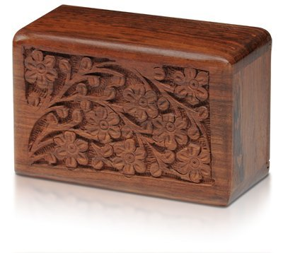 Urn for Pets - Hand-Carved Rosewood Urn - Classic Wooden Series for Dogs, Cats, and Animals (Large) (Pet Dog Urns compare prices)