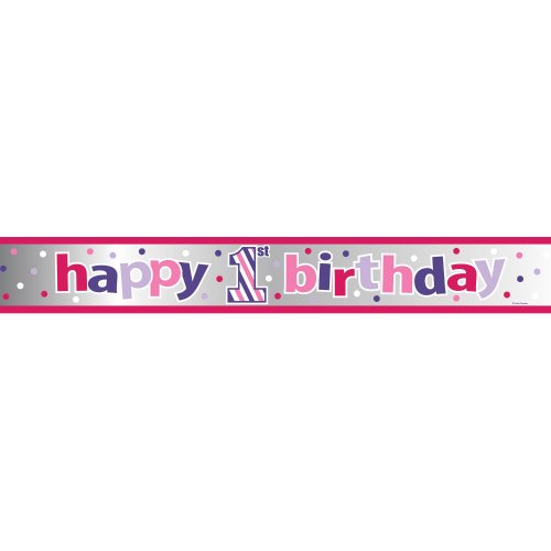 SWEET STRIPES - GIRL Banner Foil 6'