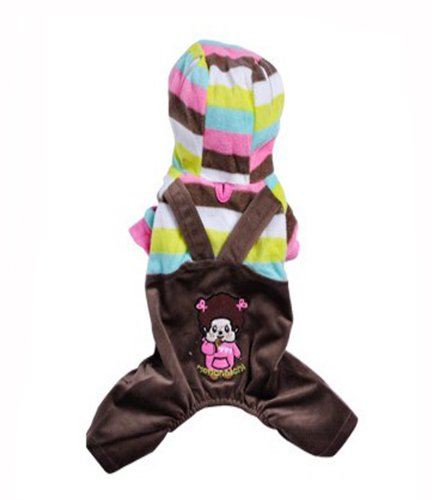Overalls Sweethearts Outfit Pet Dog Clothes Teddy Vip Clothes Cotton-Padded Clothes (Girl Style, Xl) front-41417