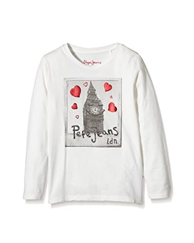 Pepe Jeans London Camiseta Manga Larga Kimmy Blanco