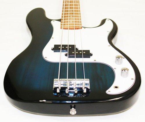 crescent electric bass guitar blueburst starter kit includes crescenttm digital e tuner. Black Bedroom Furniture Sets. Home Design Ideas