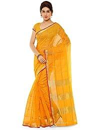 Kvsfab Cotton Silk Saree/Traditional Cotton Sarees/Woven Cotton Saree/South Indian Saree, Yellow