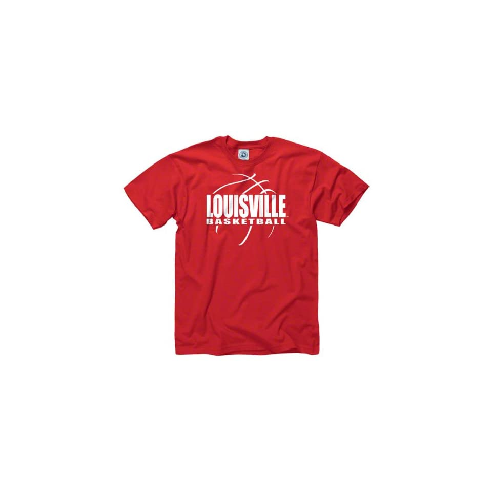 Louisville Cardinals Red Primetime Basketball T Shirt