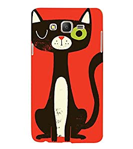 Printvisa Premium Back Cover Animated Black Cat Design For Samsung Galaxy On5::Samsung Galaxy On5 G550FY