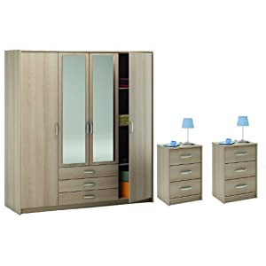 Complete bedroom furniture set bedroom wardrobe with for Cheap matching bedroom furniture