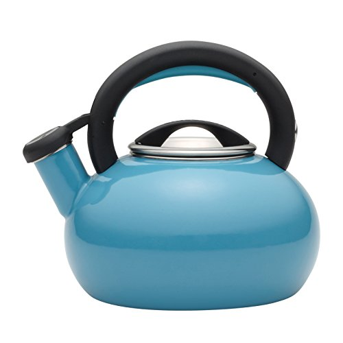 Circulon 1-1/2-Quart Sunrise Teakettle, Capri Turquoise (Whistling Tea Kettle Turquoise compare prices)