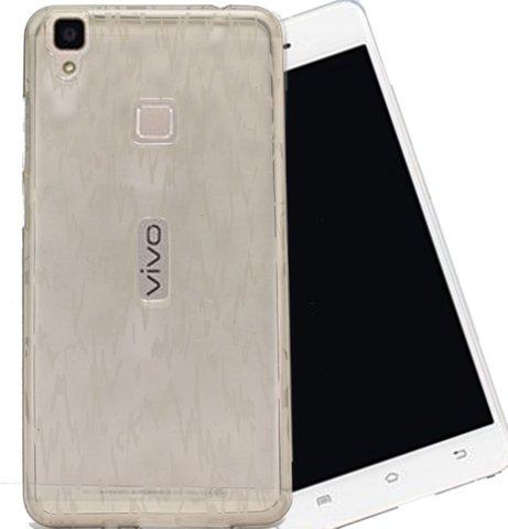 ECellStreet Semi Transparent Soft Back Case Cover Back Cover For Vivo V3 - Grey