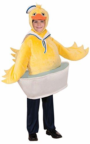 Cute Rubber Ducky Boy Costume Sailor Child Animal Yellow Duck Halloween Bird Tub (Boys Rubber Ducky Costume)
