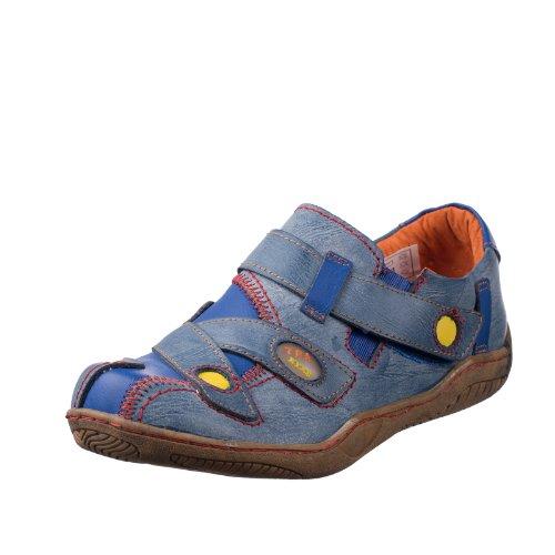 TMA EYES 1339 Sandalette Gr.36-42 mit bequemen perforiertem Fußbett , Leder 39.35 super leichter Schuh der neuen Saison. ATMUNGSAKTIV in Blau Gr. 36