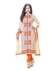 RK Fashion Womens Cotton Un-Stitched Salwar Suit Dupatta Material ( MITTAL-SANAM-7005-Orange-Free Size )
