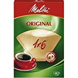 Melitta Six Cup Coffee Filter Papers Brown Pack of 40
