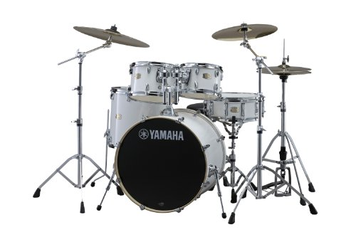 Yamaha Pac Sbp2F50Pw Stage Custom Birch 5-Piece Drum Set - Pure White