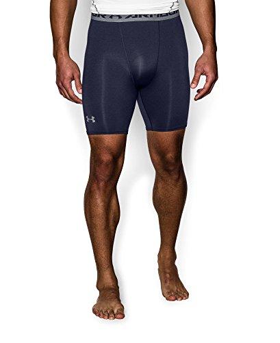 Under Armour Men's HeatGear Armour Compression Shorts - Mid, Midnight Navy (410), XX-Large