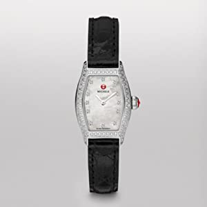 Michele Watches, Women's Urban Coquette Pav Diamond, Diamond Dial Black Alligator