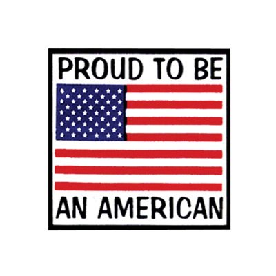 Hot Leathers Helmet Sticker - Proud To Be An American 2.5