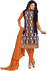 Rudra House Chanderi Embroidered Salwar Suit Dupatta Material