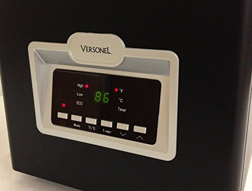 B00OKNZJOK Versonel VSL1500H6E 6 Element Portable Quartz Infrared Heater with Remote, 1500W, Black