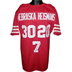 Eric Crouch Autographed Hand Signed Nebraska Cornhuskers Heisman Trophy Winners Red...