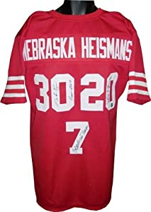 Mike Rozier Autographed Hand Signed Nebraska Cornhuskers Heisman Trophy Winners Red...