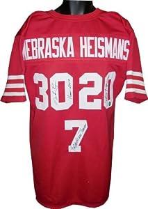 Mike Rozier Autographed Hand Signed Nebraska Cornhuskers Heisman Trophy Winners Red...