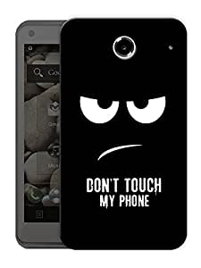 "Dont Touch My Phone Printed Designer Mobile Back Cover For ""Lenovo S880"" By Humor Gang (3D, Matte Finish, Premium Quality, Protective Snap On Slim Hard Phone Case, Multi Color)"