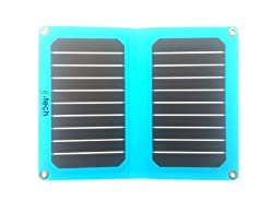 Solar Foldable Charger, IFITech® 11W Solar Semi Flexible Portable USB Outdoor Charger for iPhone, Samsung, HTC, Nexus Smartphone, Gopro Camera, GPS and Tablets - White