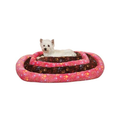 Slumber Pet Plush Paws Crate Pet Bed, X-Small, Pink front-606426