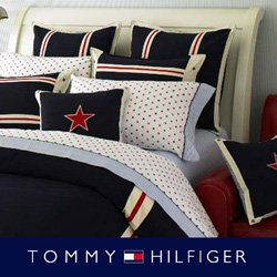 Captivating 7 Piece Tommy Hilfiger American Classics Navy Comforter Set Queen (1000 TC  Egyptian Cotton Sheet Set)