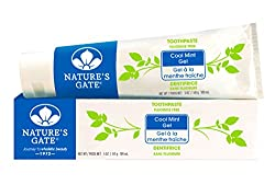 Nature's Gate Natural Toothpaste, Cool Mint Gel, 5-Ounce Tubes (Pack of 6)
