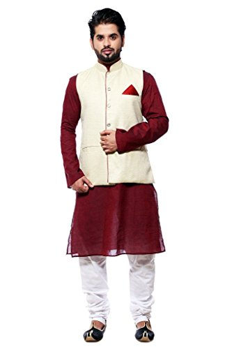 ethiic-mens-beige-cotton-blend-ethnic-jacket