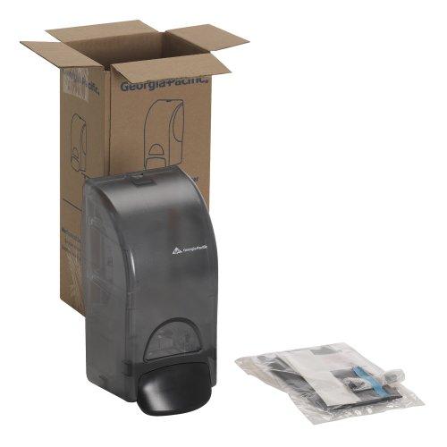 georgia-pacific-53053-smoke-manual-soap-and-sanitizer-dispenser-56-width-x-46-depth-x-107-height