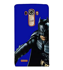 printtech Superhero Black Back Case Cover for LG G4::LG G4 H815