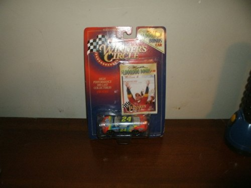 1997 NASCAR Winner's Circle . . . Jeff Gordon #24 Dupont Chevy Monte Carlo 1/64 Diecast . . . $1,000,000 Bonus Car . . . Includes Collector's Card - 1