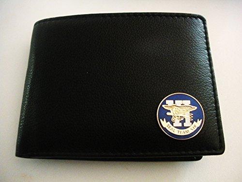 Seal Team Six(United States Navy) Men'S Bi-Fold Italian Leather Wallet