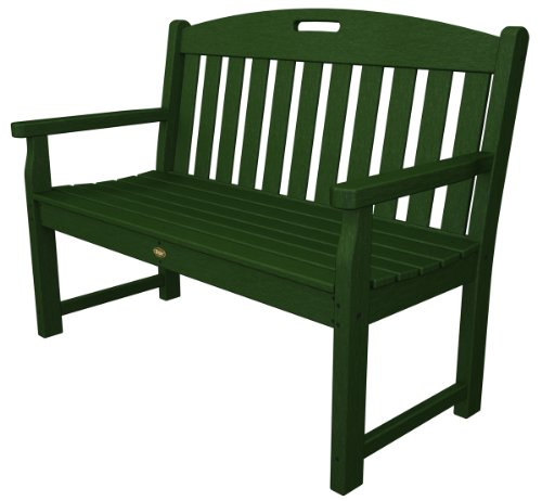 Trex Outdoor Furniture TXB48RC 48-Inch Yacht Club Bench, Rainforest Canopy