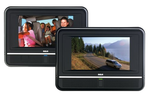 Best Review Of RCA DRC6272 7-Inch Twin Mobile DVD Players - play two different DVDs!