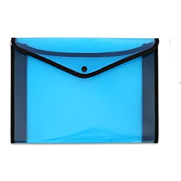 AUCH US LETTER / A4 size ,Premium Quality/High-grade Office Meeting Thickener Waterproof File/Document/Paper Bag/Pocket/Folder /Poly Envelopewith Snap Button,Blue