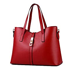 Fashion Road Womens Pu Leather Handbag Lady's Line Tote Bags