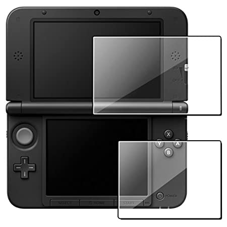 eForCity 2-LCD Kit (Top+Bottom) Reusable Clear Screen Protector Film Guard Compatible with Nintendo 3DS XL