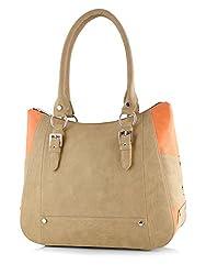 Butterflies Women's Handbag (Beige) (BNS 0546BG)