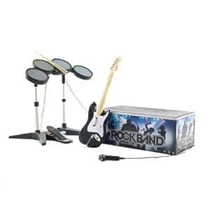 Rock Band - Kit d'accessoires (batterie + micro + guitare)