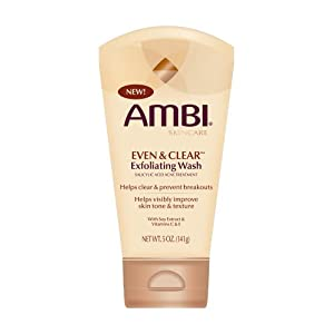 Ambi Skincare Even & obvious Exfoliating Wash, 5-Ounce Tubes (Pack of 3)