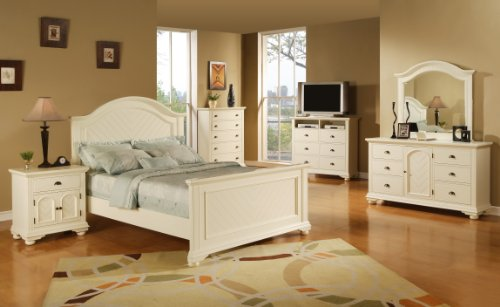 Elements Broderick 5-Piece Bedroom Set, King, White