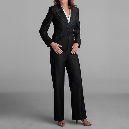 Kasper 3pc Charcoal Pantsuit