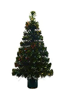 Youseexmas 3FT Green Fiber Optic Christmas Tree Color Changing UK