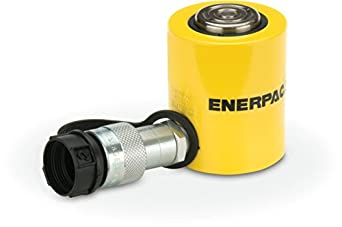 "Enerpac RCS-101 Single-Acting Low-Height Hydraulic Cylinder with 10 Ton Capacity, Single Port, 1.5"" Stroke Length"