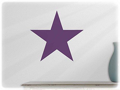 wandfabrik wandtattoo 1 praktischer stern in violett. Black Bedroom Furniture Sets. Home Design Ideas