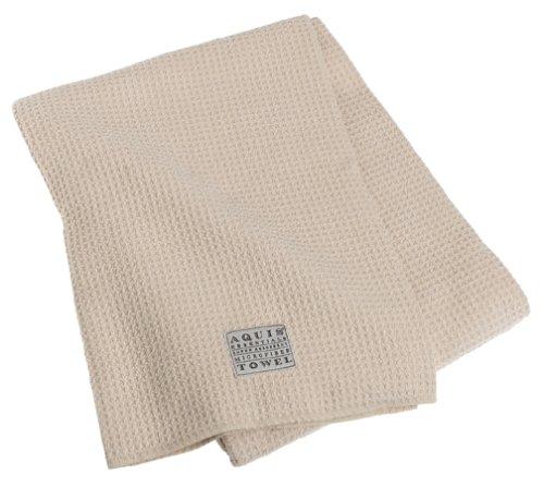 Aquis Microfiber Body Towel, Waffle, Linen, (29 x 55-Inches)