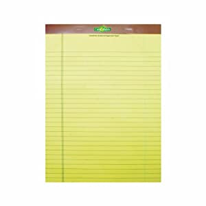 Canefields EnviroLight Legal Pads Made from Sugarcane Fiber, Canary, 16 Lb, Legal Rule, 8.5 x 11.75 Inches, 50 Sheets/Pad, Pack of 12 Pads (CNF2171)