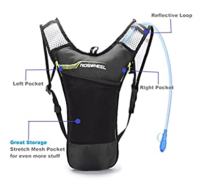 Blitzwing Hydration Pack with 70 oz 2L Bladder for Running Hiking Riding Camping Cycling Climbing Biking - Best Lightweight Backpack Water Bag for Runner Outdoor Bicycle & Bike Sports